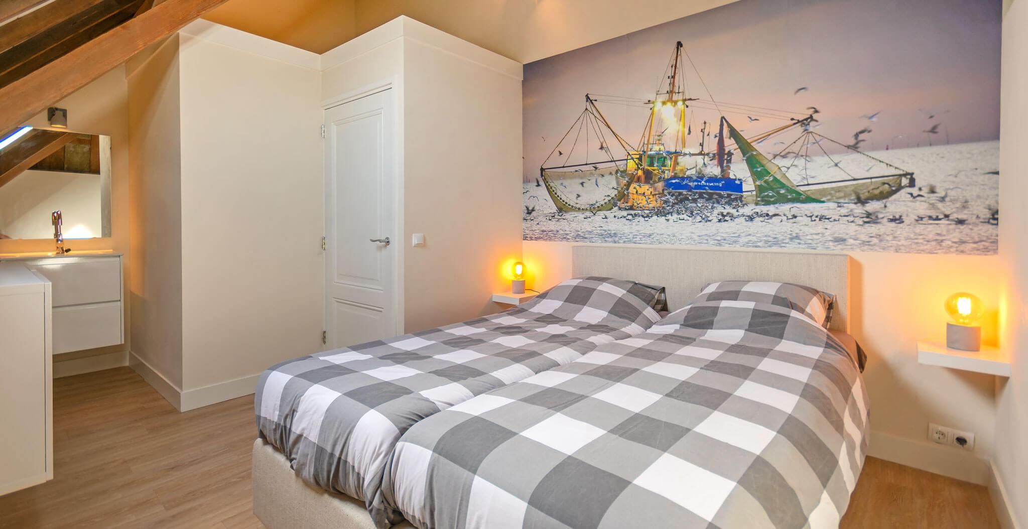 slaapkamer in het vakantiehuisj