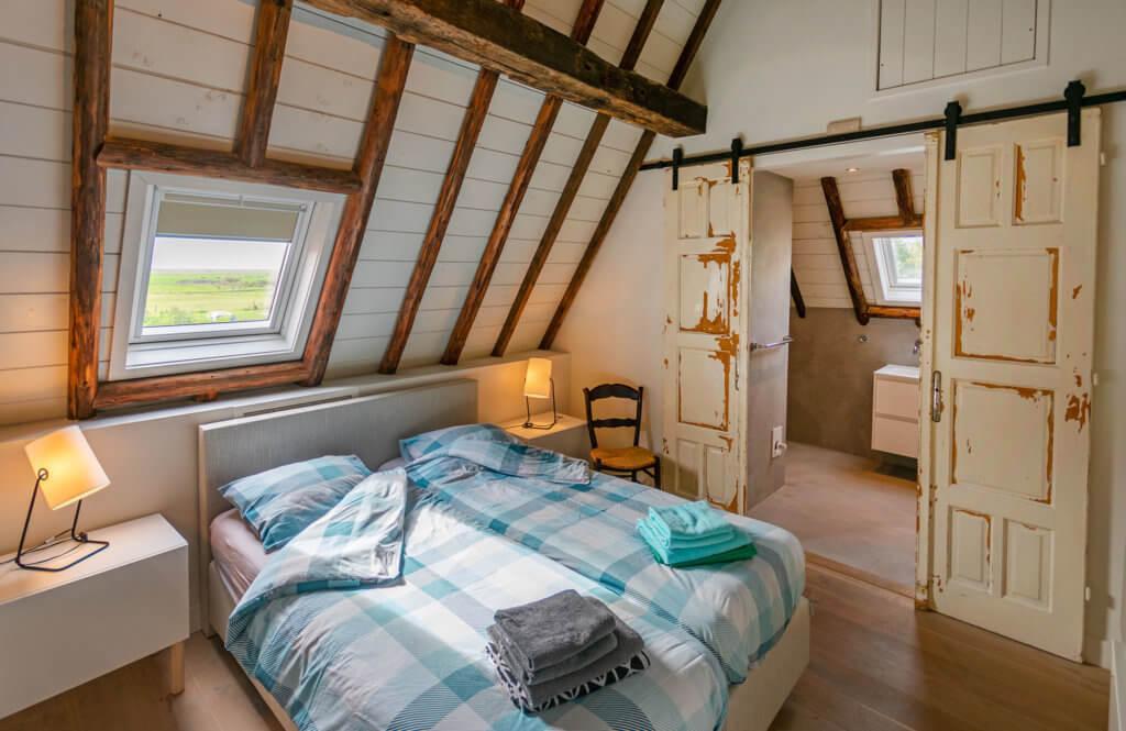 Slaapkamer uitzicht polder